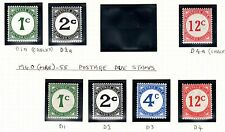 British Guiana 1940 postage dues - Sgd1-d4 + Chalky - lightly mounted mint