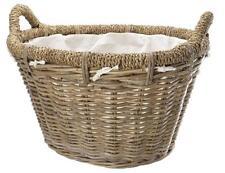 Manor Rosewood Rattan Log Basket With Liner 0338