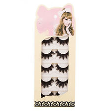 5 Pairs Soft Makeup Thick False Eyelashes Eye Lashes Long Black Nautral Bluelans