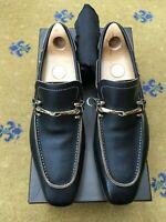 Gucci Mens Shoes Black Leather Horsebit Loafers UK 8.5 US 9.5 EU 42.5 Ornate
