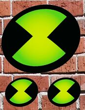 """BEN 10 OMNITRIX - 7"""" and 3"""" DECAL STICKERS for HOME, SCHOOL, AUTO, LAPTOP, SKATE"""