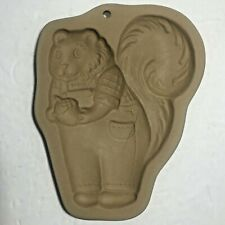Used Brown Bag SQUIRREL IN OVERALLS Cookie & Craft Mold Art 1993 Hill Design Inc