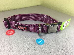 """Kong Padded Flat rope Collar REFLECTIVE X-Large (neck size 24-30in.)FUSIA """"NEW"""""""