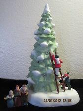 Dept 56 - Lot 2: Dickens Lighted Tree W/Children-Ladder + Heritage Village Sign