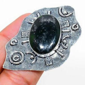 Moss Agate Gemstone Handmade 925 Sterling Silver Jewelry Ring Size 4 O973