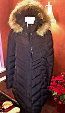 NWT Tommy Hilfiger $320 Down Quilted Coat Parka Faux Fur Hood L 12-14 Great Gift