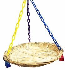 1186 Flat Basket Swing Bonka Bird Toys cages parrot natural cockatiel parakeet