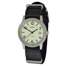 Aristo submarino 3h17ts automático unisex reloj de pulsera 10atm swiss movement textil Band