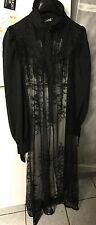 Punk Rave Killstar Black Lace Goth Long Dress Size S/M