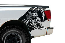 Custom Vinyl Rear Decal REAPER Wrap Kit for Nissan Titan Truck 04-13 Matte Black