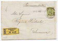 1893 AUSTRIA 20 KREUZER SU RACCOMANDATA DA TRIESTE A PALMANOVA C/4312