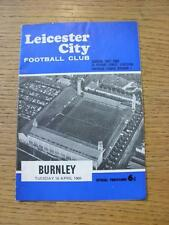 16/04/1968 Leicester City v Burnley  (torn/worn on back cover).  Any faults with