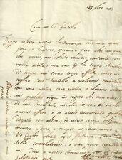 Varese Lettera Settecentesca al Fratello con Supplica di Visita 1733