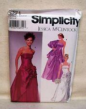 Simplicity Pattern #5671 New UNCUT Jessica McClintock Dress & Shawl Size 4-10