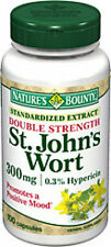 100 St. John's Wort 300mg double Nature's Bounty Hypericin Health Supplement NEW