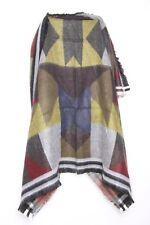 BNWT Premium Lusso Fatto a Mano MARRONE ELEGANTE sciarpa di lana con toppe in pelliccia sintetica
