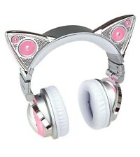 LED WIRELESS Speakers Ariana Grande Cat Ears Headphones Changing Colors