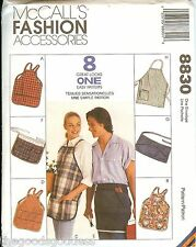 McCalls 8830 APRONS 8 Great Looks In One sewing pattern Unisex UNCUT FF NEW