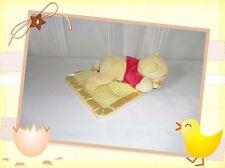 X - Doudou Peluche Winnie Couché Couverture Vichy Jaune  Disney Nicotoy
