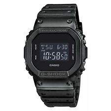 Brand New Casio G-Shock Men's Black Resin Strap Sports Watch Black DW-5600BB-1
