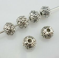 20pcs Tibetan Silver Round Spacer Beads 5.5x6.5mm