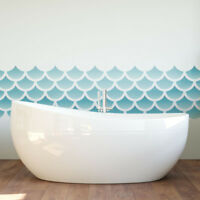 Mermaid Scales Repeating Pattern Stencil - Large Wall Stencil Template