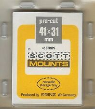 """Prinz Uni-Safe """"S"""" Top Opening #41x31  Stamp Mounts (Made in Germany) 45 Clear"""