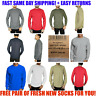 SIZE M & L Mens Long Sleeve Waffle Thermal Shirt Crew Neck Heavyweight Top NEW