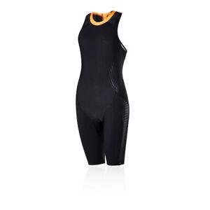 Speedo Womens Fit Neoprene Pro Swimsuit Black Sports Swimming