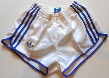 pantaloncini adidas bianchi con bande blu vintage mis XXS