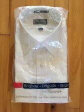 Vintage Brigade by Arrow EUROPEAN TAPER FIT Long Sleeve Dress Shirt Sz 16.5, 33