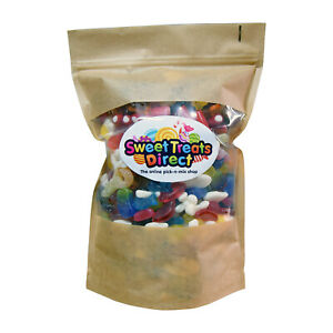 Pick N Mix Sweets 500g 1kg 1.75kg Pouches Large Retro Fizzy Jelly Candy