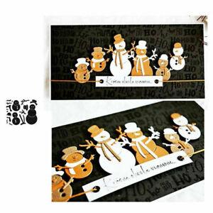 Die Cuts Snowman Metal Cutting Dies Stencil Scrapbooking Paper Craft Card Making