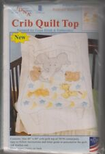 1 Jack Dempsey Bedtime Stories Stamped XStitch-Embroidery Crib Quilt Top