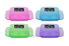 New 1 x Plastic Butter Dish Box Holder Kitchen Fridge Container With Lid