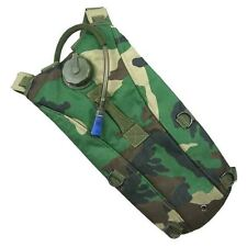 AIRSOFT 3L WATER HYDRATION BACK PACK WITH BLADDER WOODLAND DPM HIKING RUCKSACK
