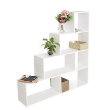 4 Tier Open Bookcase Display Shelf Storage Unit White Living Room Furniture