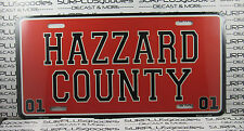 """DUKES of HAZZARD COUNTY GENERAL LEE 01 6"""" X 12"""" License Plate Tag Metal BrandNEW"""