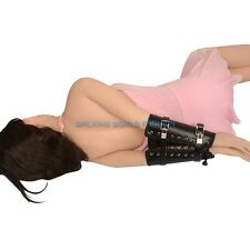 Slave Roleplay Lockable Glove Adjustable Lacing Handcuff Hand Fixation Restraint