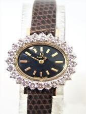 Solid 14k OMEGA Ladies Watch with 1.5 ct Diamonds FVS1 Ref EE7737R Cal 650 EXLNT