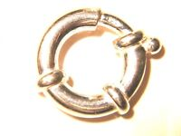 19mm x 3.5mm STERLING SILVER 925 JUMBO BOLT RING JEWELLERY MAKING CATCH CLASP