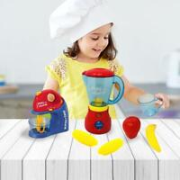 Kids Pretend Kitchen Appliance Juicer Play Set Toy Battery Operated Gift toy
