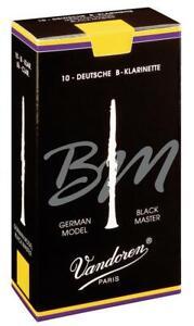 Vandoren Reeds Clarinet Bb 6 Black Master Traditional (10) CR187T