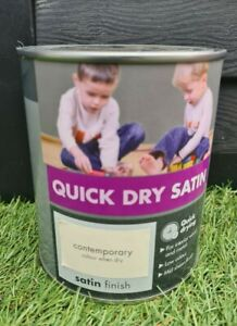 ☆ Quick Dry Satin Paint  Contemporary 750ml interior wood and metal☆
