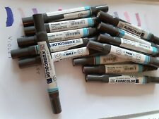 ZIG KURECOLOUR ALCOHOL BASED DYESTUFF INK MARKERS - PINKS & PURPLES