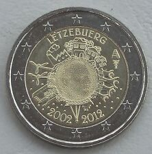 2 Euro Luxemburg 2012 10 Jahre Euro unz