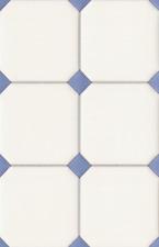 Wandfliesen mit blauen RHOMBEN Puppenhaus Puppenstube 1 12