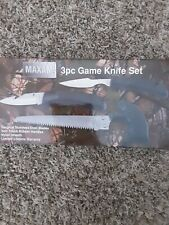 Maxam 3pc Game Knife Set