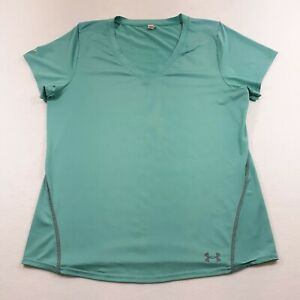 Under Armour Iso-Chill Womens Large Fitted Seafoam Green Athletic Sport T-Shirt