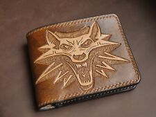 Geralt's handmade leather wallet from Witcher for geeks and gamers